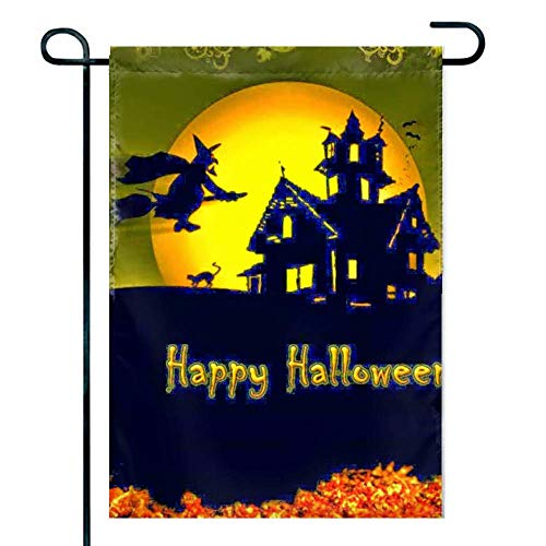 Love fled Happy Halloween Quotes Decoration, Seasonal Outdoor Décor Flag 12x 18 Spring -