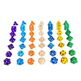 7 x 7 (49 Pieces) Polyhedral Dice 7 Color Dungeons and Dragons DND MTG RPG D20 D12 D10 D8 D6 D4 Game Dice Set