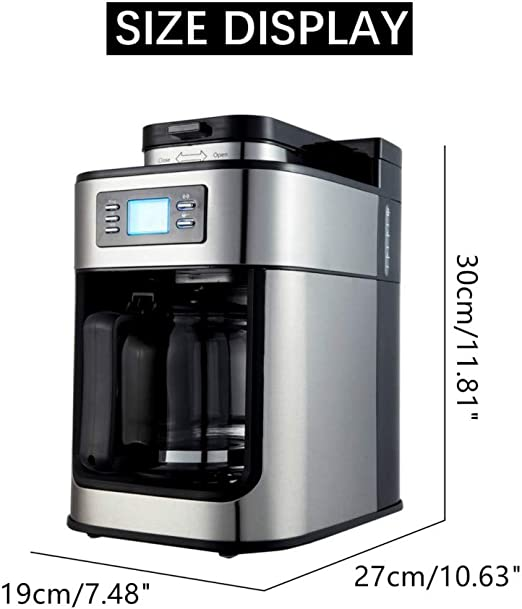 Cafetera 1200ml Electric Coffee Maker Machine Household Fully ...