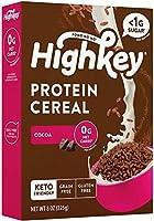 HighKey Protein Snacks - Keto Breakfast Cereal - 0 Net carb & Zero Sugar, Grain & Gluten Free Cereals Snack - Non GMO...