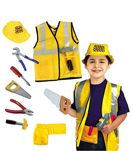 Kids Role Play Costume Set Leaning Pretend Halloween Costume 3-7 Years