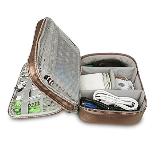 Bag Travel Hard Drive Cable Cables Cards SD Organiser Fvino for Carry Electronics Rose Storage Accessories USB Case q4OtYUgFWw