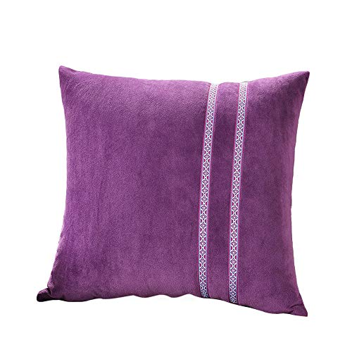- Fulijie Throw Pillow Cases, Crystal Velvet Pillow Sofa Waist Throw Cushion Cover Home Decor Cushion Cover Case 17X17 Inch