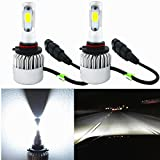 Alla Lighting 8000lm Xtremely Super Bright 6000K Xenon White High Power Mini H10 9145 LED Fog Driving Lights Bulbs Lamps Replacement