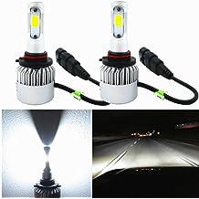 Alla Lighting HB3 9005 LED Headlight Bulbs Extreme Super Bright COB LED 9005 Headlight Bulbs 9005 6000K ~ 6500K Xenon White 9005 Bulb 8000Lm 9005 HB3 LED Headlight Conversion Kit Bulbs Lamp (Set of 2)