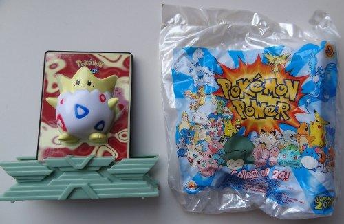 2000 Pokemon - Togepi Burger King 2000 Pokemon Power Card and Stand