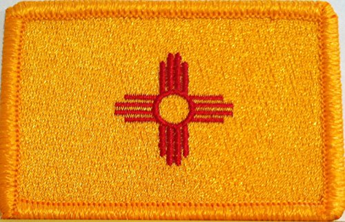 NEW MEXICO STATE Flag Embroidered With VELCRO Patch MC Biker
