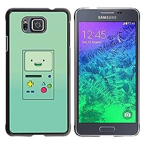 Caucho caso de Shell duro de la cubierta de accesorios de protección BY RAYDREAMMM - Samsung GALAXY ALPHA G850 - Console Green Retro