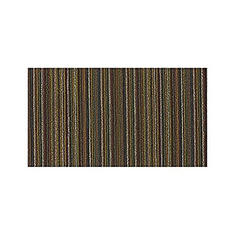 Chilewich Shag Skinny Stripe Utility Mat   Multi Color