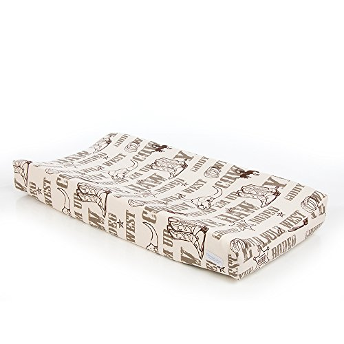 Glenna Jean Carson Changing Pad Cover, Cowboy Print (Changing Cover Pad Cow)