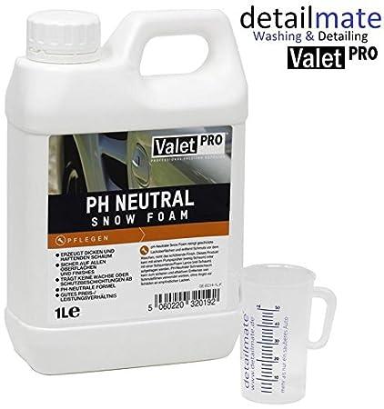Espuma de lavado con pH neutro de ValetPro, 1 l + jarra medidora ...