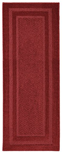 Mohawk Home 6915 383 020060 Smart Strand Accents Jamison Chili Pepper Rug, 1'8x5', Red ()