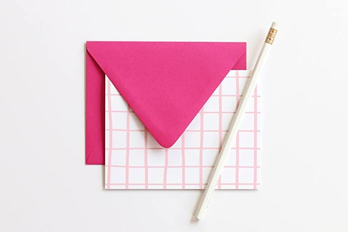 Amazon Com Thank You Notes Blank Stationary Set Pink Cards Colorful