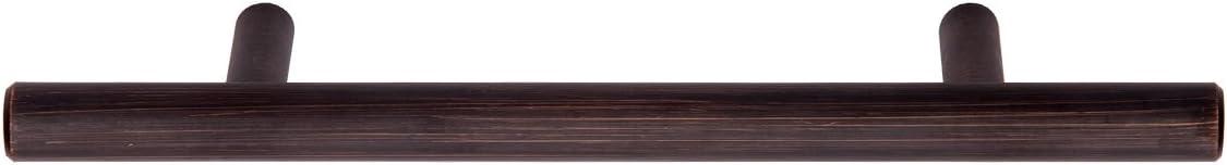 10er-Pack Lochmitte zu Lochmitte: 9,52 cm 9,5 mm Durchmesser L/änge: 15,57 cm Ge/öltes Bronze Europ/äischer Steggriff M/öbelgriff Basics