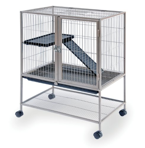 (Prevue Frisky Ferret Cage with Stand 486 Coco Brown, 25 x 17.125 x 34 IN)