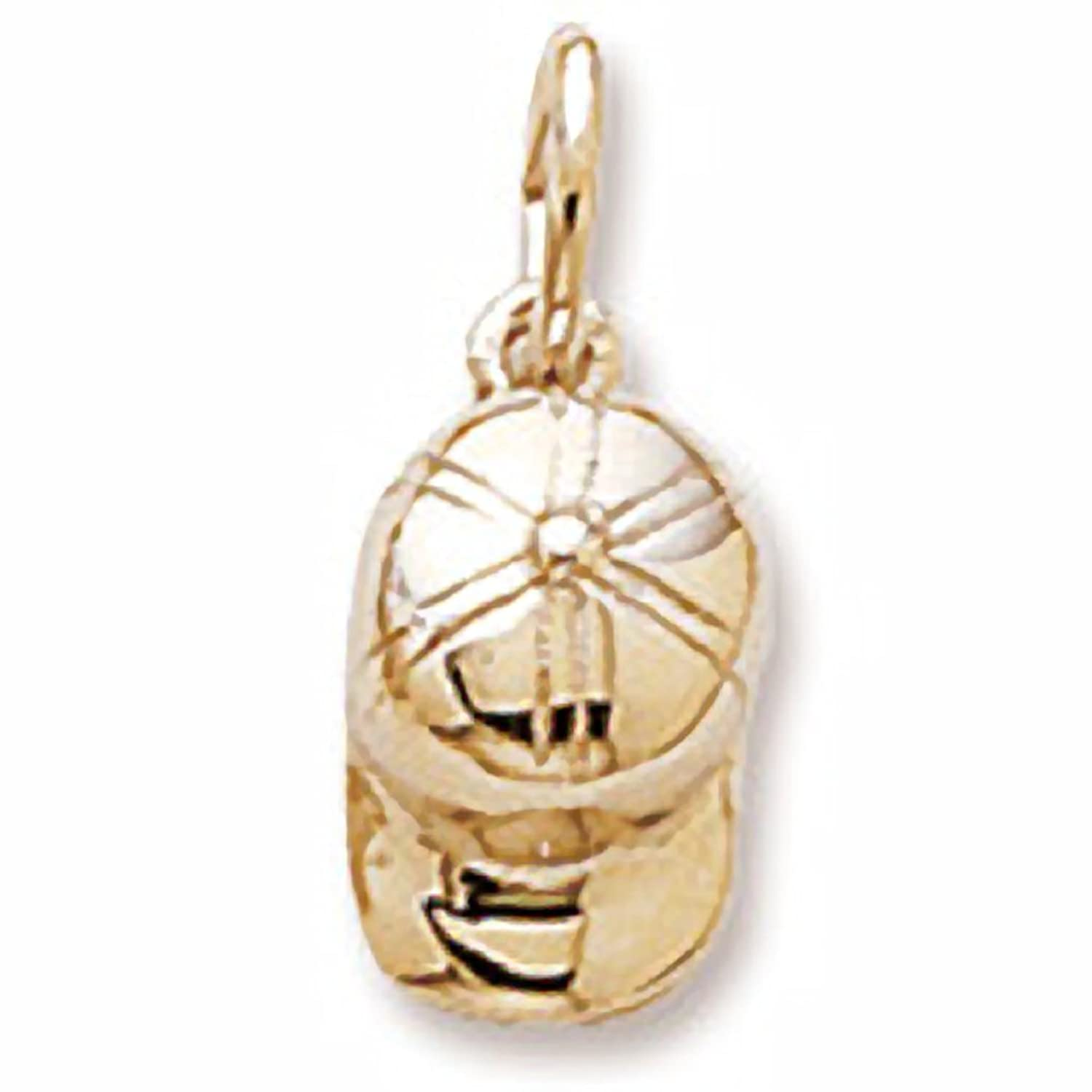 10k Yellow Gold Baseball Cap Charm, Charms for Bracelets and Necklaces