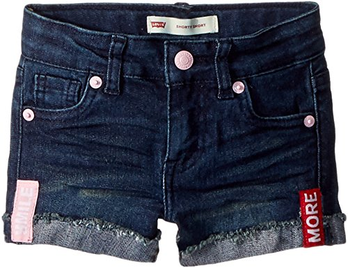 Baby Girl Embroidered Denim - Levi's Kids Baby Girl's Embroidered Shorty Shorts (Toddler) Night Fade 2T (Toddler)