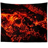 Westlake Art - Fireplace Ember - Wall Hanging Tapestry - Picture Photography Artwork Home Decor Living Room - 68x80 Inch (F6F4-DFBA6)
