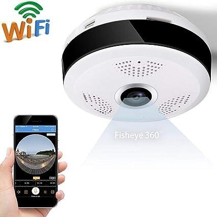 Cámara De Vigilancia 1080P 2 Millones De Píxeles 360 ° Ojo De Pez Cámara Panorámica Sin