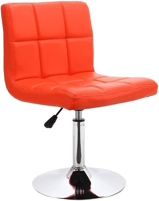 Chaise Tournante Tabourets De Bar-Chaise De Bar Continental Ascenseur avec Tabouret De Dossier Peut Se Soulever JINRONG (Couleur : Beige) Orange