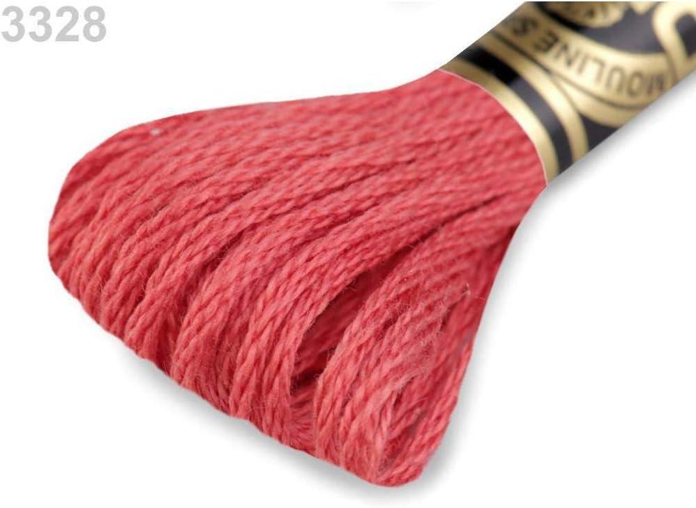 du Crochet de la Mercerie du Tricot Mouline Teints en Fil de Coton Mouline 1pc 106 Moyen Rouge Stri/é de Fils de Broderie Dmc Moulin/é Sp/écial de Coton