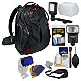 Manfrotto Pro Light Bumblebee-130 DSLR Camera Backpack with Flash + Video Light + Diffuser + Flash Filters + Strap + Kit