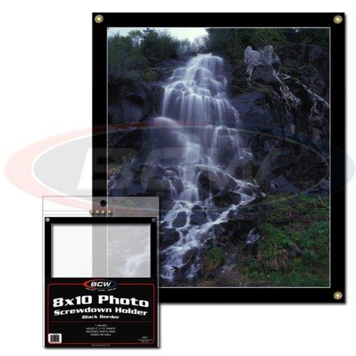 BCW 8 X 10 Photo Screwdown Holder - Black Border - Sports Memoriablia Display Case - Sportscards Collecting (8x10 Photo Display Case)