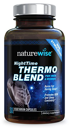 NatureWise Night Time Thermo Blend for Men & Women, Dual-Action Support Increases...