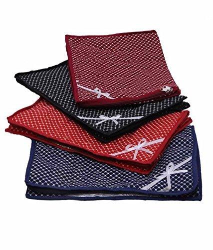 Kuber Industries 4 Piece Cotton Saree Bag
