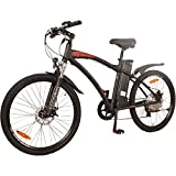 DJ Bikes Mountain 500W 7-Speed Electric Bicycle, 48V 13Ah Lithium-Ion Battery, Matte Black, LED Bike Light, EBike For Adults-Men, Full Suspension And Shimano Gear