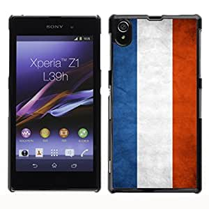 Shell-Star ( National Flag Series-Netherlands ) Snap On Hard Protective Case For SONY Xperia Z1 / L39H / C6902 / C6903 / C6906