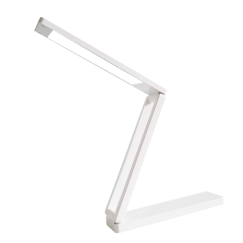 CCdo LED Table Lamp Night Light - Two Levels Brightness Desk Lamp Home Office Lighting Book Reading Lamp for Study - White