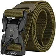"""JUKMO Tactical Belt, Military Rigger 1.5"""" Nylon Web Duty Work Belt with Magnetic Quick Release B"""