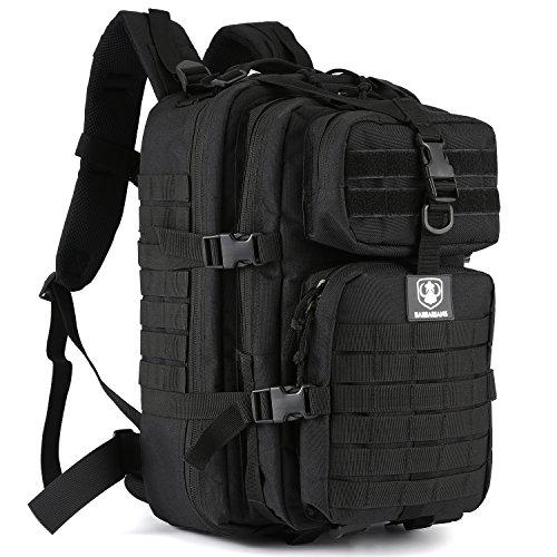 Gonex 30L Trekkingrucksack Wanderrucksack für Outdoor Wandern Camping (Schwarz 2 – taktisch)