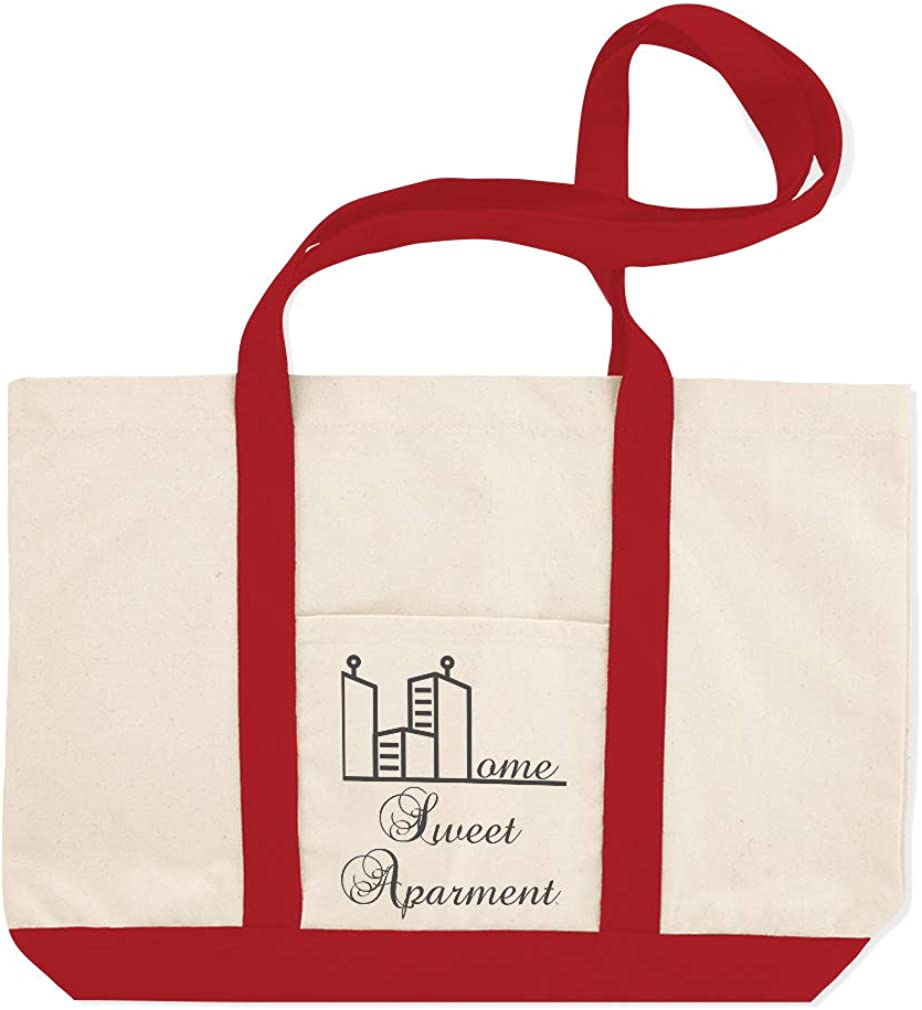 Canvas Shopping Tote Bag Home Sweet Apartment Architecture City Buildings Beach for Women