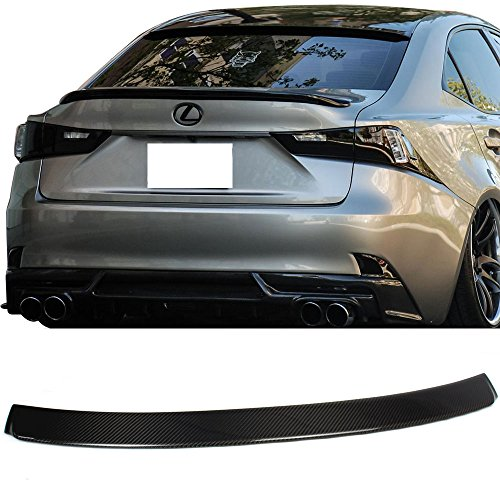 Roof Spoiler Fits 2014-2016 Lexus IS250 IS350 | IKON Style Unpainted Raw Material Carbon Fiber CF Rear Wing Window Roof Top Spoiler by IKON MOTORSPORTS | ()