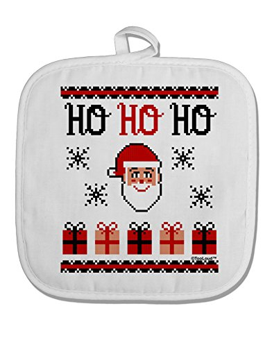 TooLoud Ho Ho Ho Ugly Christmas Sweater White Fabric