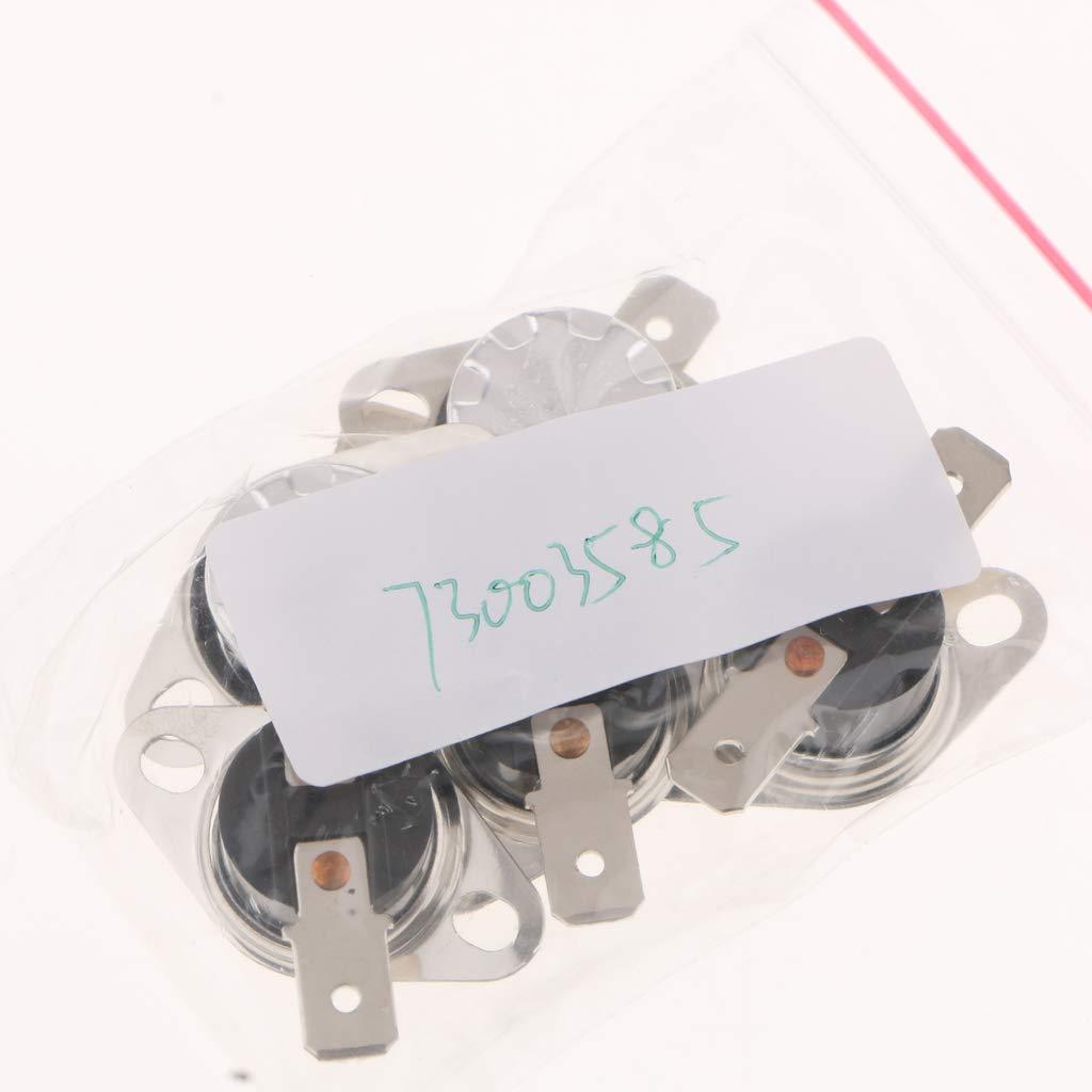 Plata 110 ℃ SunniMix 5 Piezas KSD301 110-140 Interruptor De Temperatura Abierto Normal Celsius 10A 250V