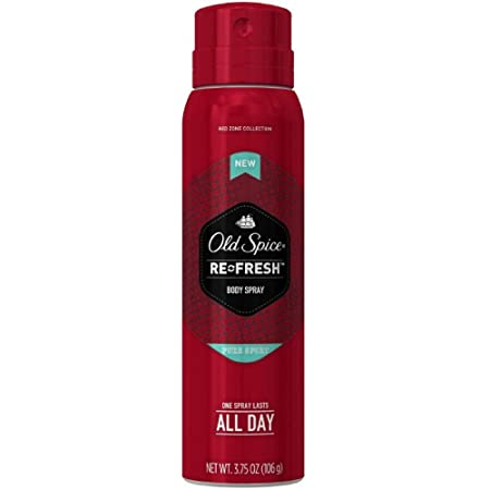 Old Spice Red Zone Re-Fresh Body Spray, Pure Sport 3.75 Pack of 8