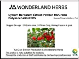 WonderLand Herbs Lycium Barbarum barbary wolfberry extract powder- 3.5oz. Polysaccharide >50% Superfoods supplement. Review