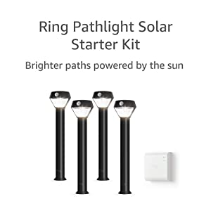 Ring Solar Pathlight - Outdoor Motion-Sensor Security Light, Black (Starter Kit: 4-pack)