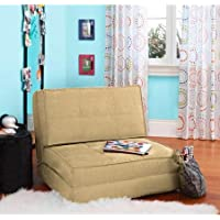 Gramercy Home Khaki Flip Sleeper Chair Sofa