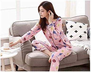 TRENDY XU Girls Cartoon Print 2 Pcs Pajamas Set Button Sleepwear for Spring//autumn