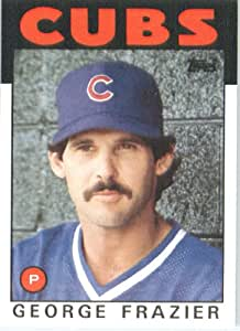 1986 Topps # 431 George Frazier Chicago Cubs Baseball Card