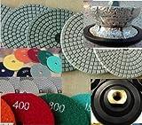 1-1/4'' Stair tread Profile Granite Router Bit M30 Profile Wheel 4'' Diamond Polishing Damo 16+1 Pad granite polishing pads fits toolsmart secco hardin