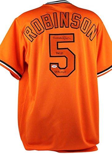 fb13b2e34 Orioles Brooks Robinson  HOF 83 64 Al MVP  Signed Orange Jersey ...