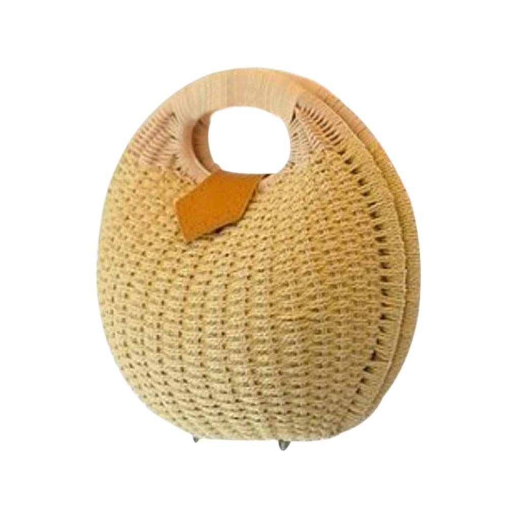A6 Snail's Nest Tote Handbag Summer Beach Bags Woman Straw Bags Women's Handbag Rattan Bag