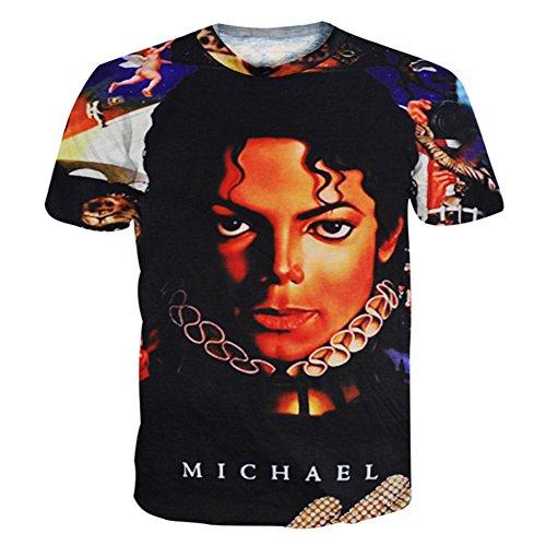 Catamaran Unisex Michael Jackson Hip Hop 3d Teen T Shirts Crop Tops M (Michael Jackson Outfits)