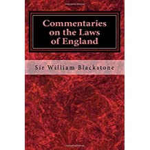 Commentaries on the Laws of England: Book the First (Volume 1)