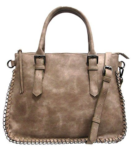 Laundry Chinese Womens Handbag - Chinese Laundry Women's Jodi Double Handle Chain Satchel One Size Mushroom